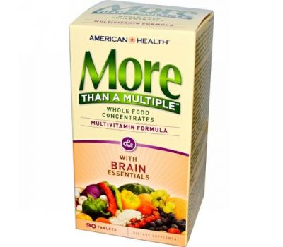 American Health, More Than a Multiple with Brain Essentials, 90 Tablets