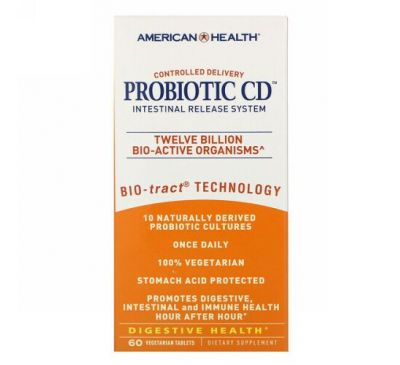 American Health, Probiotic CD, Intestinal Release System, 60 Vegetarian Tablets