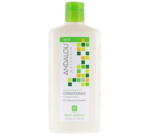Andalou Naturals, Conditioner, Silky Smooth, For Waves to Ringlets, Exotic Marula Oil, 11.5 fl oz (340 ml)