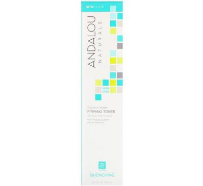 Andalou Naturals, Firming Toner, Coconut Water, Quenching, 6 fl oz (178 ml)