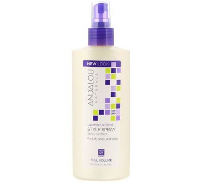 Andalou Naturals, Lavender & Biotin Full Volume Style Spray, 8.2 fl oz (242 ml)