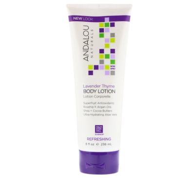 Andalou Naturals, Lavender Thyme Refreshing Body Lotion, 8 fl oz (236 ml)
