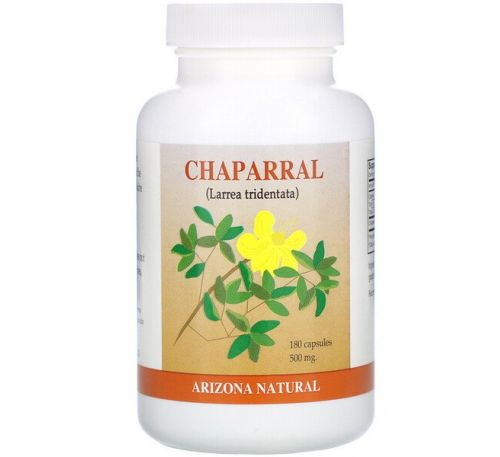 Arizona Natural, Chaparral, 500 mg, 180 Capsules