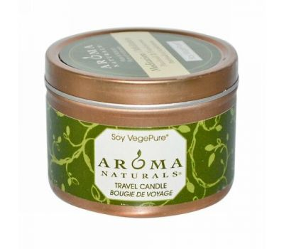 Aroma Naturals, Soy VegePure, Travel Candle, Meditation, Пачули и ладан, 79.38 г