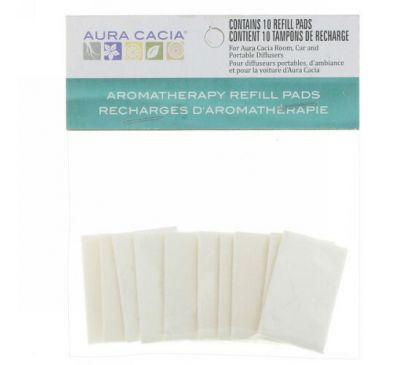 Aura Cacia, Aromatherapy Refill Pads, 10 Refill Pads