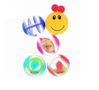 Baby Einstein, Roller-Pillar Activity Balls, 3+ Months, 5 Activity Balls