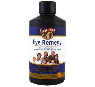 Barlean's, Eye Remedy, cо вкусом смузи из танжерина, 454 г