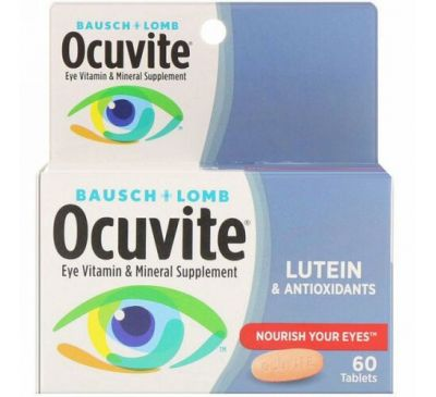 Bausch & Lomb, Eye Vitamin & Mineral Supplement, Lutein & Antioxidants , 60 Tablets