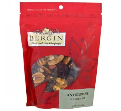 Bergin Fruit and Nut Company, Antioxidant, Superstar Mix, 6 oz (170 g)