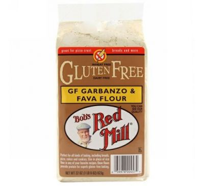 Bob's Red Mill, GF Garbanzo & Fava Flour, 22 oz (623 g)