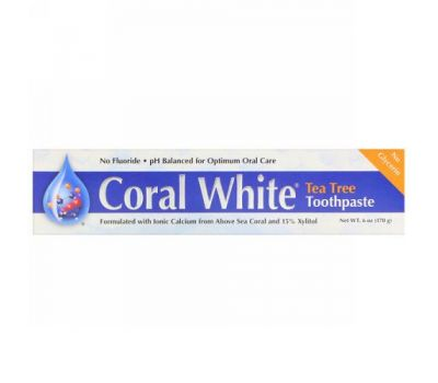 CORAL LLC, Coral White Toothpaste, Tea Tree, 6 oz