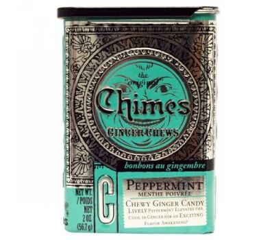 Chimes, Ginger Chews, Peppermint, 2 oz.
