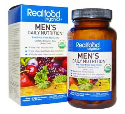 Country Life, Realfood Organics, Men's Daily Nutrition, 120 таблеток