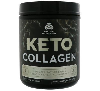 Dr. Axe / Ancient Nutrition, Keto Collagen, Collagen Protein + Coconut MCTs, 1.19 lb (540 g)