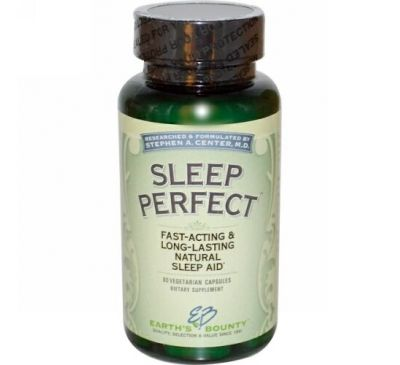 Earth's Bounty, Sleep Perfect, 60 Vegetarian Capsules