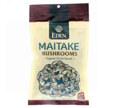 Eden Foods, Maitake Mushrooms, Organic Dried Sliced, .88 oz (25 g)