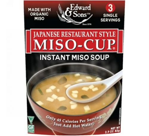 Edward & Sons, Edward & Sons, Miso-Cup, Japanese Restaurant Style, 3 Individual Servings