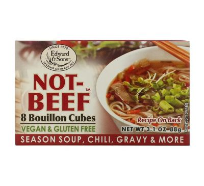 Edward & Sons, Not-Beef Bouillon Cubes, 8 Cubes, 3.1 oz (88 g)