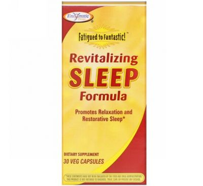 Enzymatic Therapy, Fatigued to Fantastic!, Revitalizing Sleep Formula, 30 Veg Capsules