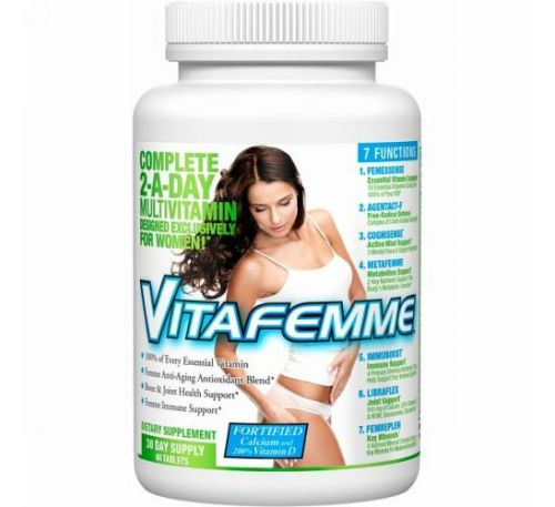FEMME, Vitafemme, Complete 2-A-Day Multivitamin, 60 Tablets