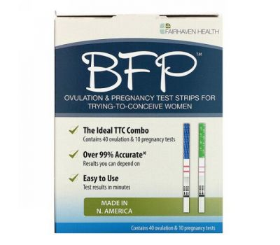 Fairhaven Health, BFP, Ovulation & Pregnancy Test Strips, 40 Ovulation & 10 Pregnancy Tests