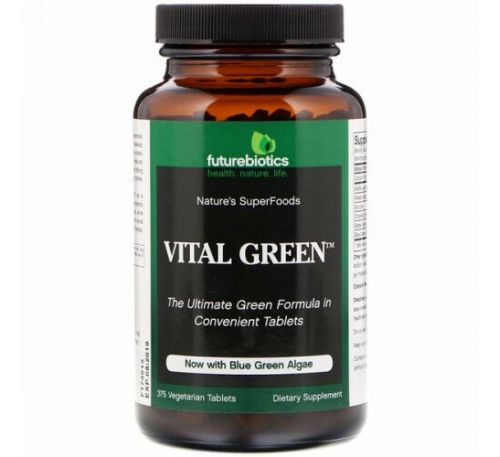 FutureBiotics, Vital Green, 375 Vegetarian Tablets