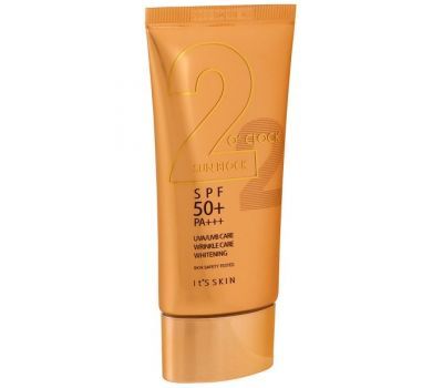 It's Skin, 2 O' Clock Sunblock, SPF 50+ PA+++, 50 ml