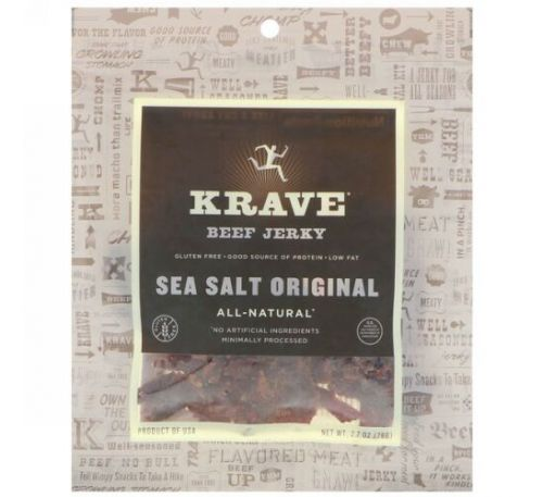 Krave, Beef Jerk, Sea Salt Original, 2.7 oz (76 g)