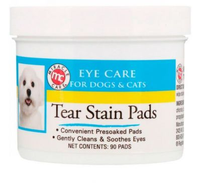 Miracle Care, Eye Care, Tear Stain Pads, For Dogs & Cats, 90 Pads