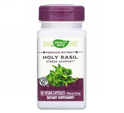 Nature's Way, Holy Basil, 450 mg, 60 Vegan Capsules