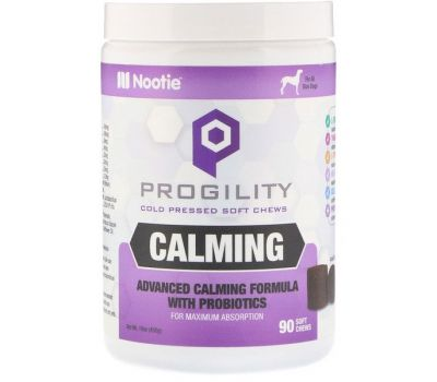 Nootie, Progility, Calming, For Dogs, 90 Cold Pressed Soft Chews