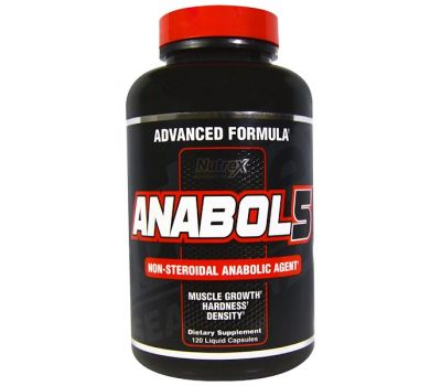 Nutrex Research, Anabol 5, 120 жидких капсул
