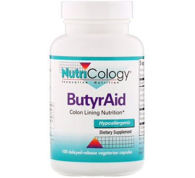 Nutricology, ButyrAid, 100 Delayed-Release Vegetarian Capsules