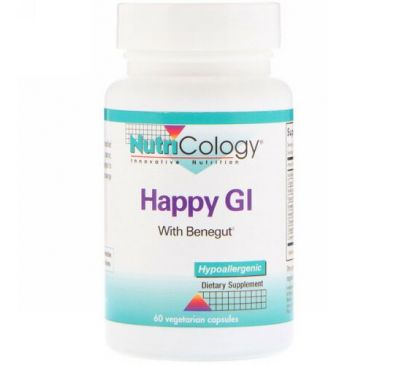 Nutricology, Happy GI, 60 вегетарианских капсул