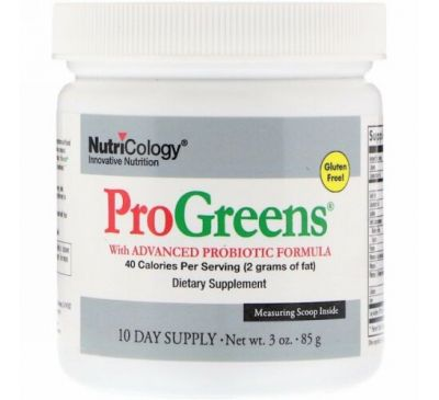 Nutricology, ProGreens with Advanced Probiotic Formula, 3 oz (85 g)