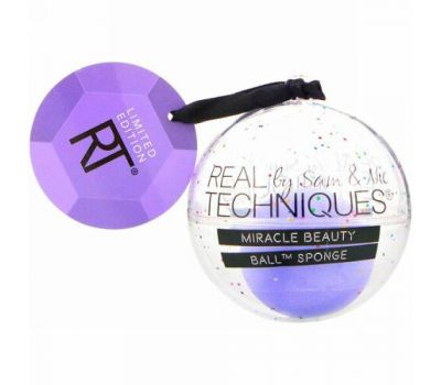 Real Techniques by Samantha Chapman, Limited Edition, Let It Snow Ball Ornament, 1 Shimmer Sponge