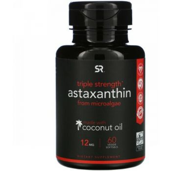 Sports Research, Astaxanthin, Triple Strength, 12 mg, 60 Veggie Softgels