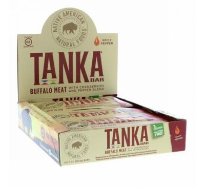 Tanka, Bar, Buffalo Meat with Cranberries and Pepper Blend , 12 Bars, 1 oz (28.4 g) Each